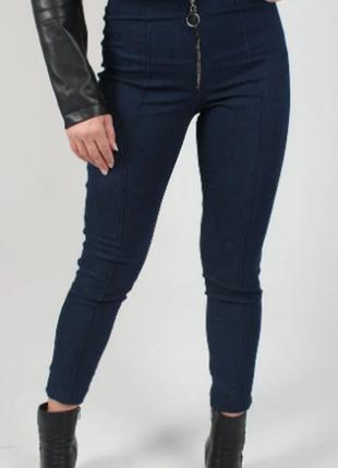 Лосины/брюки укороченые(по косточку) 791во джинс
