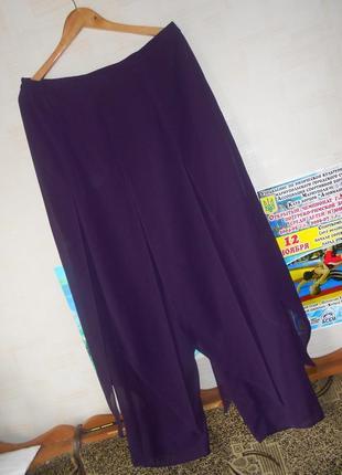 Легкие брюки с фалдами - 50-52-54 р
