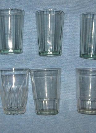 Классические советские стаканы граненые по 200 мл, чистое стекло ссср
