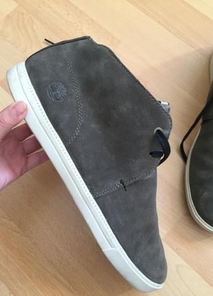 Кожаные сапоги ботинки timberland