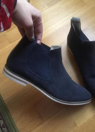 Кожаные сапоги ботинки челси 5th avenue