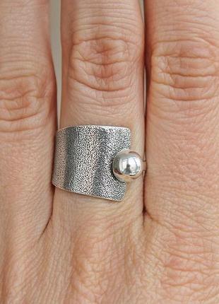 Серебряное кольцо хайтек р.17,5-18,5