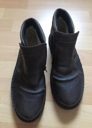Кожаные сапоги ботинки rieker