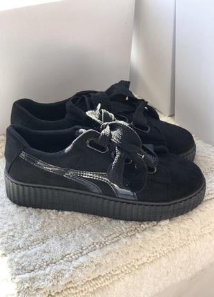 Черные кроссовки, кеды  на 24,5 см