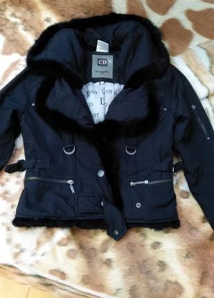 Куртка демисезонная christian dior, чёрная