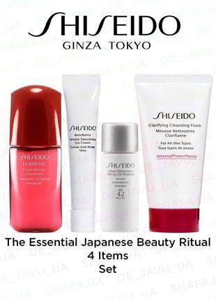 Антивозрастной набор shiseido the essential japanese beauty ritual 4 предмета