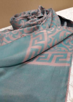 💗невероятный двухсторонний шарф шаль палантин вискоза расцветки5 фото