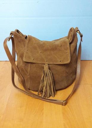 Замшевая сумка мешок испания