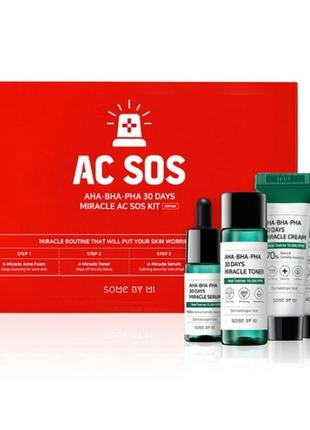 Набор для проблемной кожи some by mi aha-bha-pha 30 days miracle ac sos kit
