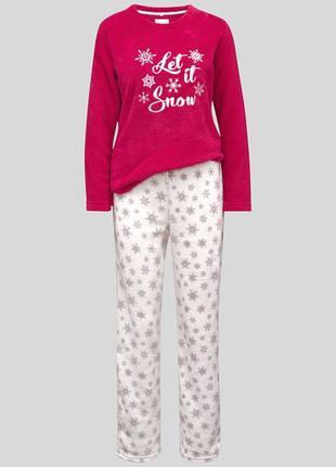 Фирменная флисовая пижама меховушка c&a германия
