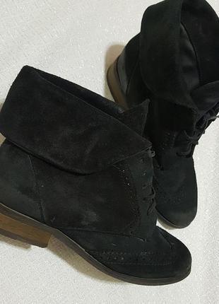 Ботинки замшивые