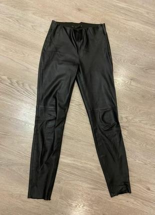 Штаны брюки джинсы лосины кожа замш леггинсы