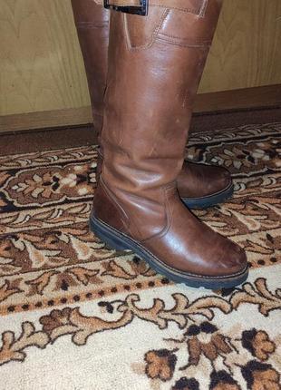 Кожаные сапоги blackstone коричневые брендовые 37-38 кожа