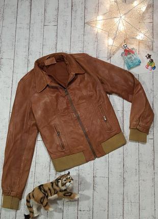 Кожаная куртка коричневая курточка из натуральной кожи vero cuoio р. l- xl