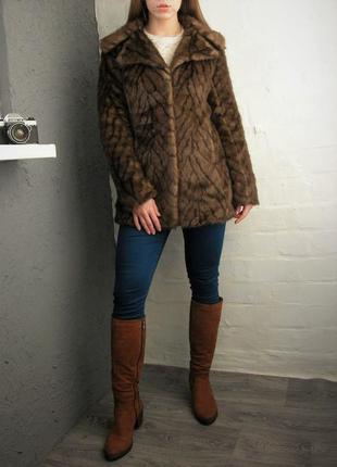 Эко шуба шубка меховое пальто пиджак полушубок из искусственного меха new look р.s - м