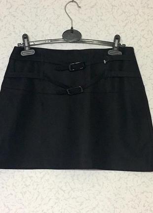 Качественная шерстяная базовая юбка италия
