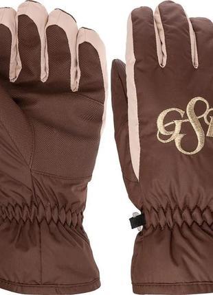 Термо перчатки рукавицы горнолыжные дет glissade к