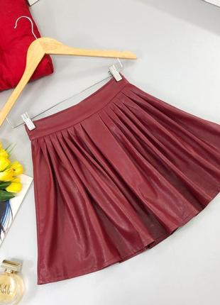 🔥 total sale 🔥стильная юбка из эко кожи asos