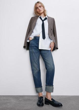 Прямые джинсы zara woman с высокой посадкой 36р, оригинал, испания