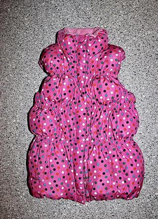 Тёплая жилетка одежда 6-7 лет