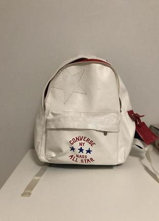 Converse рюкзак белый