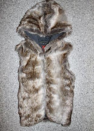 Меховая жилетка одежда 12-13 лет некст next