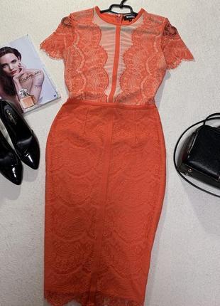 Шикарное ажурное платье,размер м