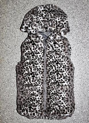 Меховая жилетка одежда 3-4