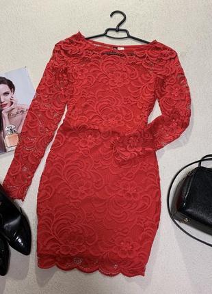 Стильное ажурное платье,размер xs