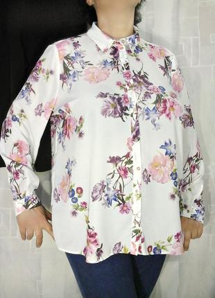 Шифоновая блуза в красивых цветах