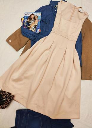 Asos maternity платье бежевое персиковое миди эластичное для беременных