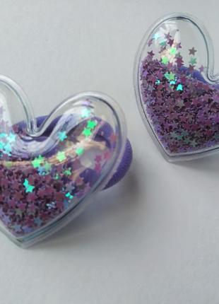 Фиолетовые резинки с силиконовым патчем