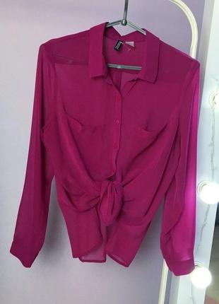 Шикарная лиловая блуза h&m, с-м💕3 фото