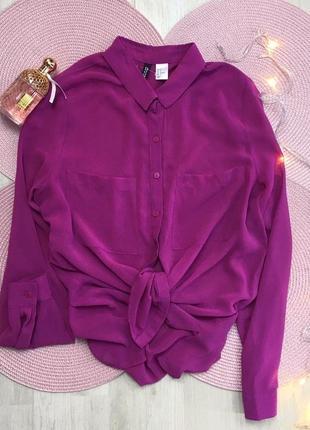 Шикарная лиловая блуза h&m, с-м💕6 фото