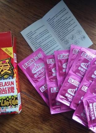 Презервативы elasun rose red queen's choise 16шт. контрацептивы