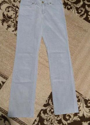Брендовые прямые джинсы из микровельвета на высокий рост