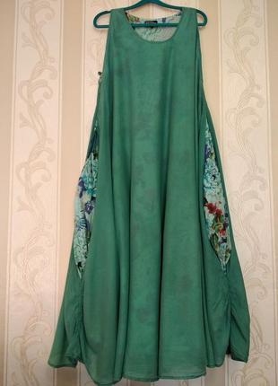 Батистовое длинное двойное платье бохо, bertrend
