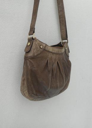 Кожаная сумка через плечо молодежная