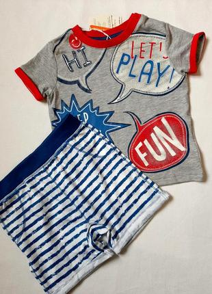 Комплект футболка и шорты для мальчика   р 86\92