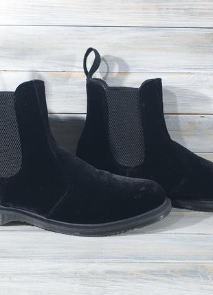 Dr martens flora velur оригінальні черевики , оригинальные ботинки