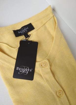 Свитер на пуговицах жёлтый 100%хлопок bexley , германия