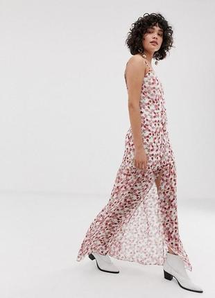 Роскошное шифоновое платье asos, платье в цветы, платье макси, шифон, zara, peace love,