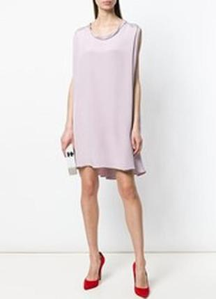 Bgn платье сарафан 100% шелк пыльно розовое