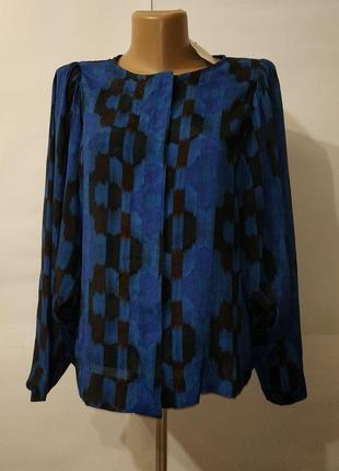 Блуза новая натуральная красивая mango uk 8/36/xs