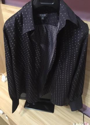 Блузка, блуза, рубашка в горошек тм lewin разм. 18