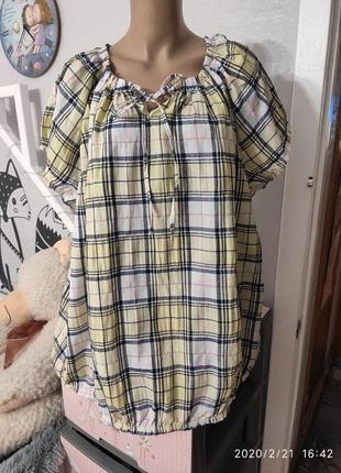 Легкая хлопковая блузочка, пог-