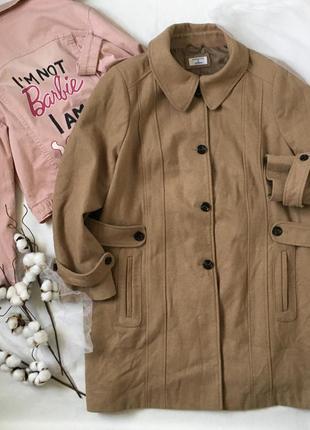 Демисезонное шерстяное пальто