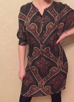 Шелковое платье massimo dutti