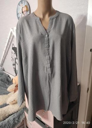 Комфортная натуральная вискозная блуза, размер 26/281 фото
