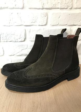 Ботинки челси из натуральной замши